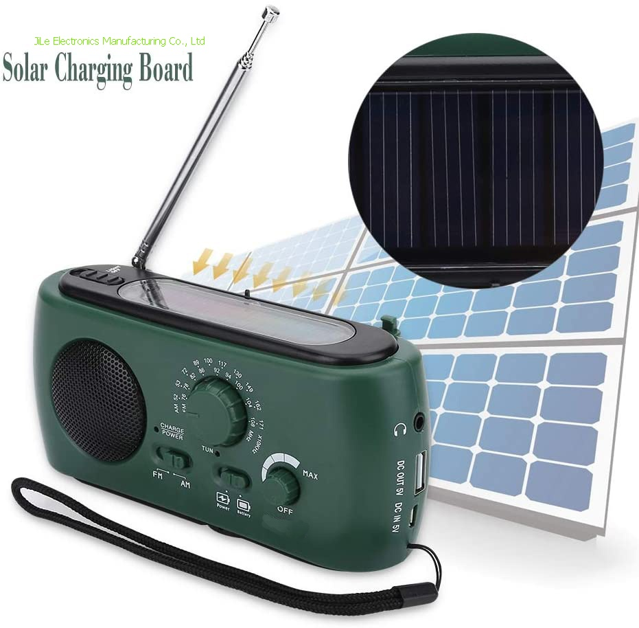 Emergency Radio,4-Way Powered Solar Power, Cranking Handle, USB,Battery AM/FM SW Weather NOAA Radio with LED Flashlight Emergency Phone Charger Survival Accessory