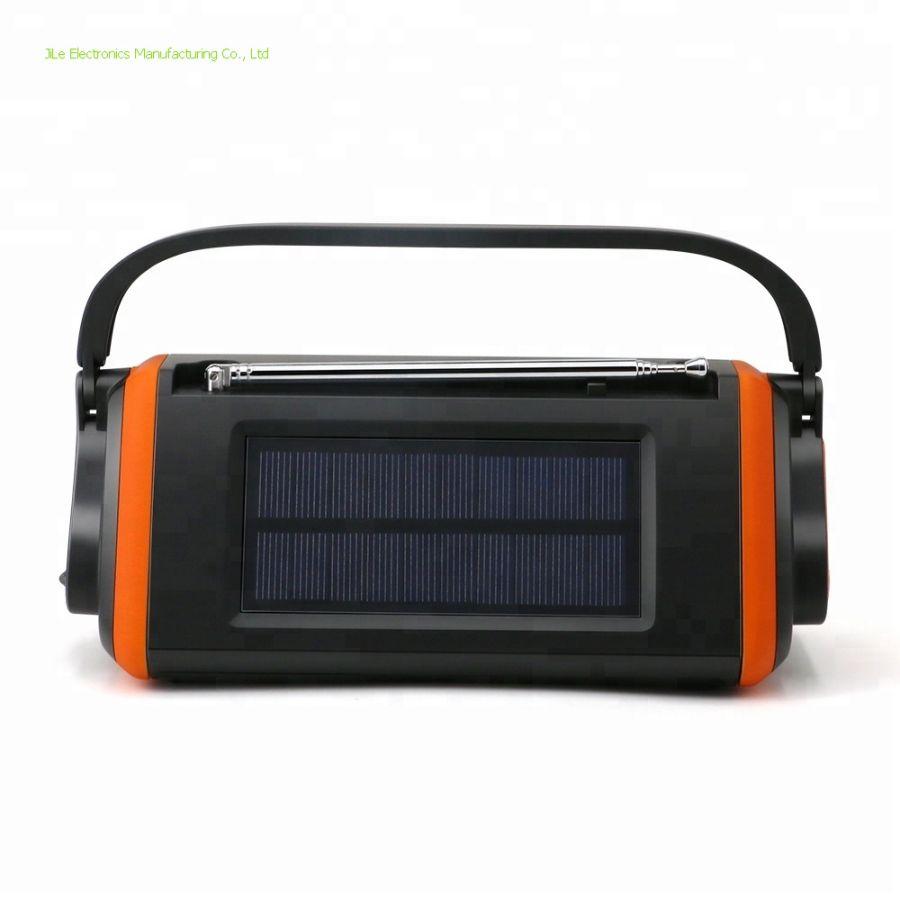 HD Digital hurricane emergency solar hand crank powered noaa