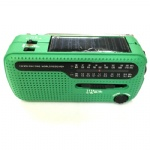 Portable Emergency Solar Crank AM/FM/SW Radio with LED Flashlight