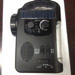 Solar crank radio with 5 LED Flashlight USB Phone Charger