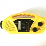 Solar hand crank AM/FM Radio/Weather band and flashlight