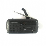 Portable Emergency solar hand Crank Flashlight AM FM Radio