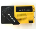 Protable dynamo hand crank AM FM radio with flashlight
