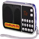 Mini AM FM portable radio with USB SD TF card player