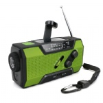Emergency hand crank portable am fm solar radio